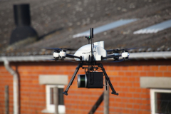 LiDAR UAV survey between buildings